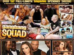 Gang Bang Squad - Interracial Sex Horny babes take on cocks for hot gangbang action! Over 130 full-length gangbang episodes inside! A new episode is added bi-weekly!